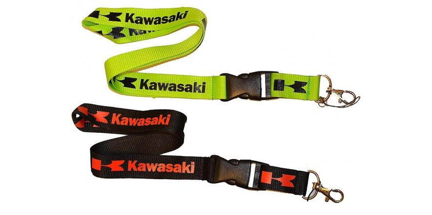 Шнурок на шею для ношения телефона, ключей и др. Kawasaki