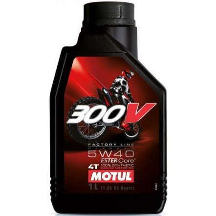Масло MOTUL 4T 300V Factory Line Off Road SAE 5W40 (1L)
