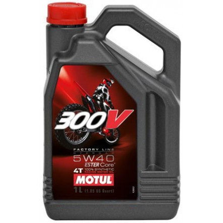 Масло MOTUL 4T 300V Factory Line Off Road SAE 5W40 (4L)