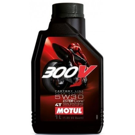 Масло MOTUL 300V 4T Factory Line Road Racing SAE 5W30 (1L)