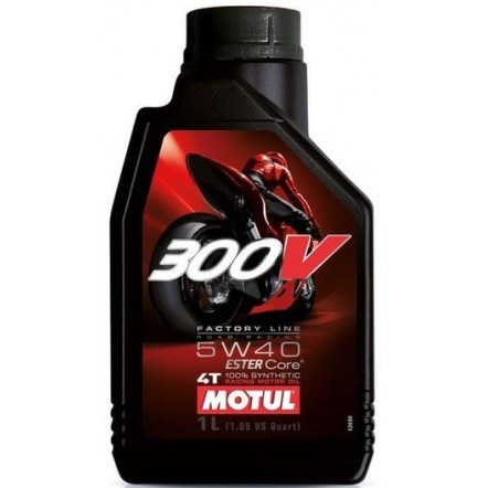 Масло MOTUL 300 V 4T Factory Line Road Racing SAE 5W40 (1L)