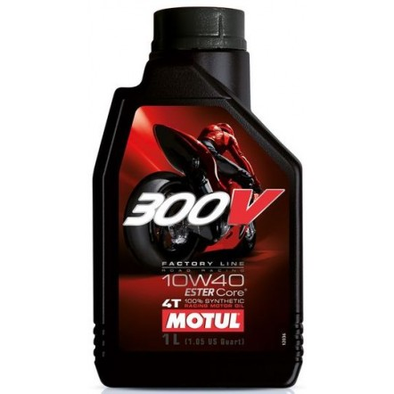 Масло MOTUL 300V 4T Factory Line Road Racing SAE 10W40 (1L)