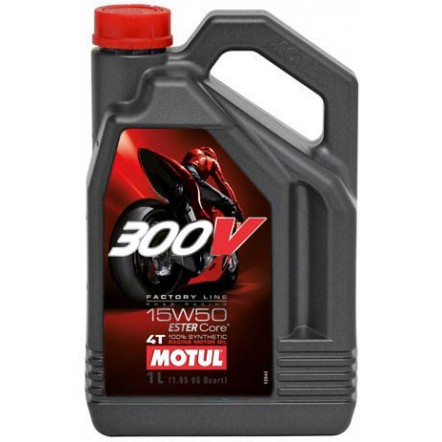Масло MOTUL 300V 4T Factory Line Road Racing SAE 15W50 (4L)